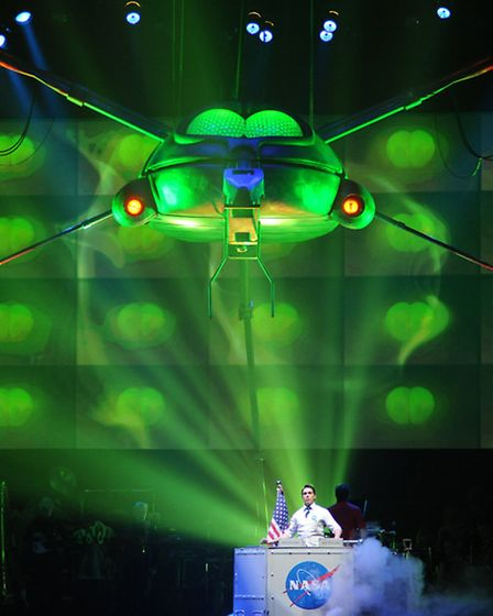 Production Still from 2010-2011 The War Of The Worlds Tour Photograph By : Roy Smiljanic