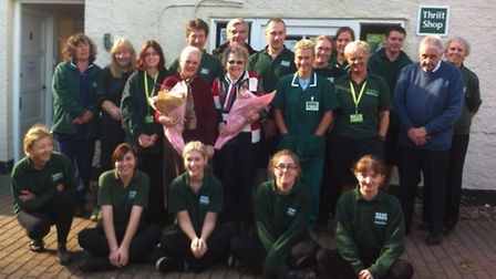 The Heydon branch team of Wood Green, The Animals Charity, have said their farewells