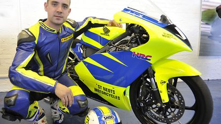 Andy Sawford, of St Neots Motorcycles, is riding in the BSB British Motostar 125GP Championship for