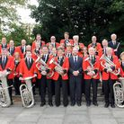 Royston Town Band in September 2012 after their 'Picnic in the Park' concert as part of Royston Arts