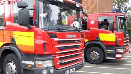 Firefighters used specialist equipment to release the man trapped in the submerged car.