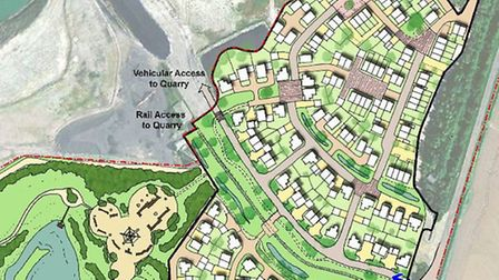 An illustrative masterplan of the Barrington homes site by CEMEX