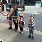 Royston town centre Pirate Day