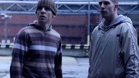 From left, Iain McKee as Sammy and Ross Barton as Kieren in a scene from the film.