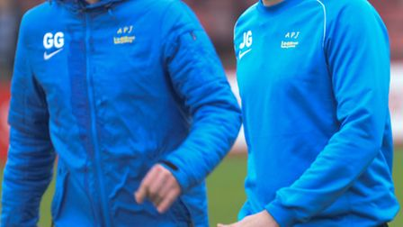 St Albans joint managers James Gray and Graham Golds. Picture: Bob Walkley