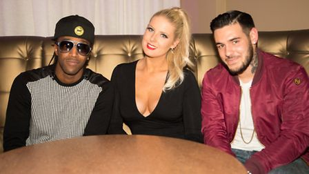 Filming at Club Batchwood in St Albans: LS One duo Ice Playa (aka Michael Lawrence) and Kristal (Chr