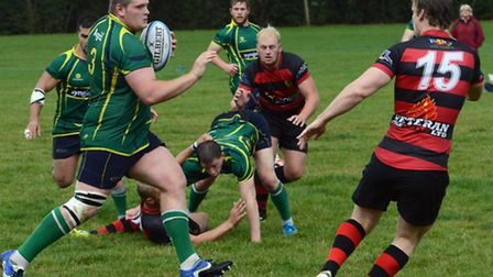 Huntingdon Stags rugby action