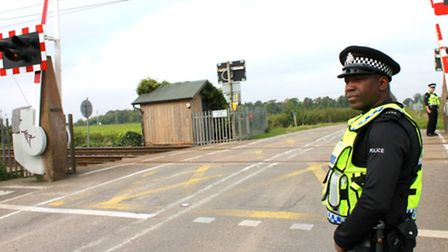 Police carried out checks on drivers at level crossings