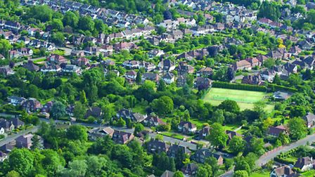 Aerial view over Harpenden.