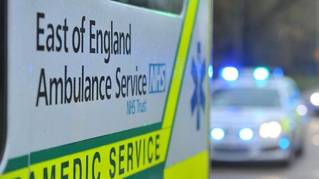 The man was taken to Lister Hospital in Stevenage to be treated for a suspected heart attack.