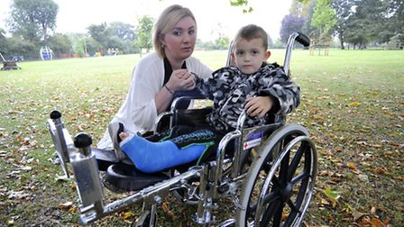 At Warners Park, St Ives, mum Gina Hayward wants witness for incident where woman in mobility scoote