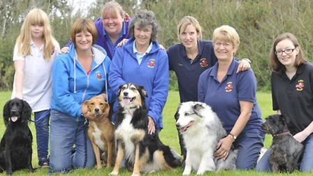 Ramsey Dog Club, Show Day, (l-r) Ella Hewison, with Buzz, Sharon Hewison, with Button, Julie Swallow