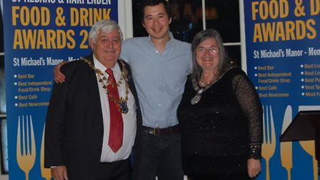 St Albans and Harpenden Food and Drink Awards 2014 - Chris Evans from Hatch, Kate D'Arcy Award
