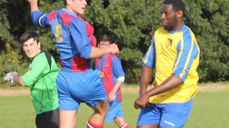 Action from Old Albanians and St Albans IFC