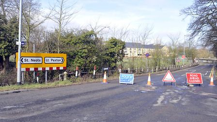 Mill Lane during one of its closures. Picture: HELEN DRAKE.