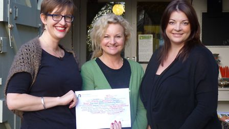(L to R) Helen Burridge, Julie O'Shea and Karen Snook have been instrumental in setting up the proje