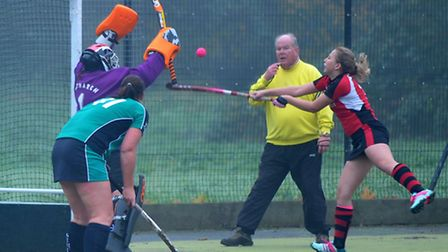 Wisbech ladies v St Ives, Hockey. Picture: Steve Williams.