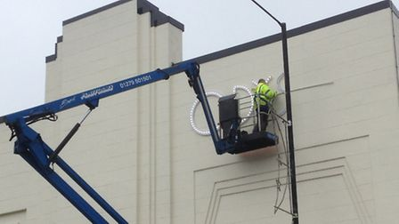 Signage goes up at The Odyssey cinema, St Albans