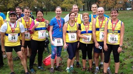 Striders at the Autumn Challenge 5 Mile race in Watford.