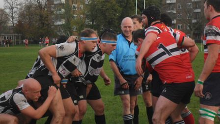 Action from Harpenden's loss to Hammersmith and Fulham