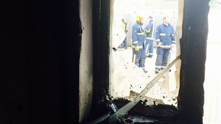 Firefighters at the scene. Picture: CAMBS FIRE AND RESCUE SERVICE.
