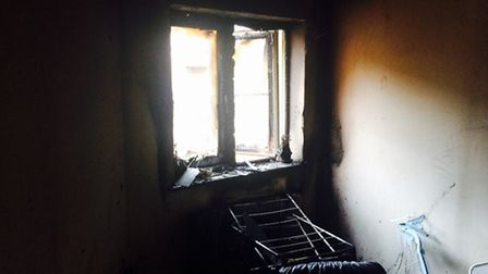 The inside of the property. Picture: CAMBS FIRE AND RESCUE SERVICE.