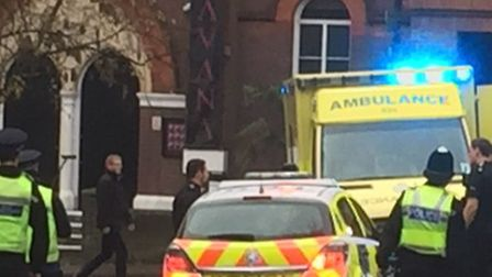 Emergency services were called to the incident in St Albans earlier today - photo Lee Evans