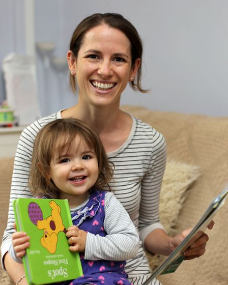 Grace Read with her daughter, Evie, 2