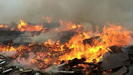 The fire at the wood recycling plant in Flint Cross has continued to burn throughout the week. Credi