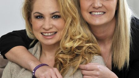 At her home in Godmanchester (left) Lianna Foster with her sister Maxie Skye-Foster.