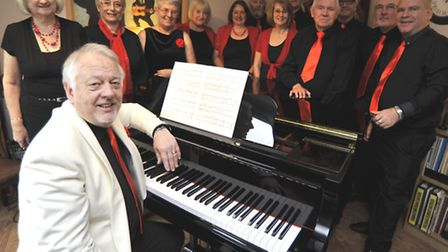 The Hepmangrove Singers, with (front) Richard Batty. Picture: HELEN DRAKE.