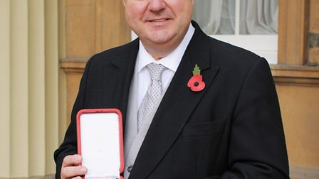 Sir Oliver Heald after receiving his knighthood from the Queen. Credit: Palace Photos.