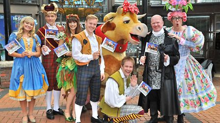 St Albans panto stars, including Phil Mitchell
