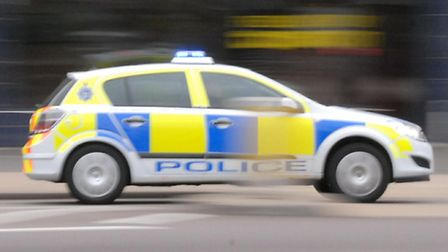 A car was stolen from outside a bank in Royston.