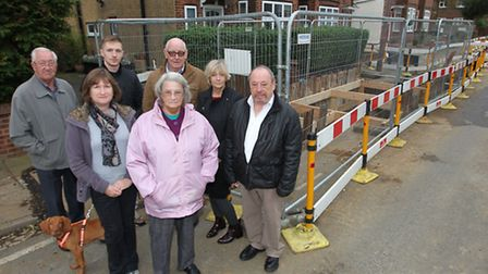 Local residents Peter Jarvis, Jo Arnold, Dominic Brewer, Mary Jarvis, John Harvey, Pauline James and