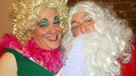 Ruby (Tony Knox) with Father Christmas (Chris Baker).