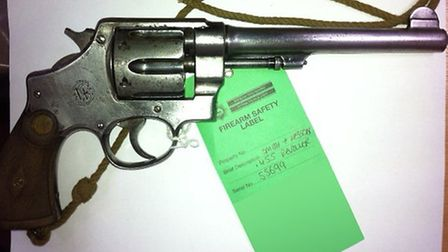 More than 200 weapons were handed in during the amnesty, including the revolver pictured.