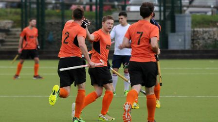 St Albans celebrate scoring the first goal