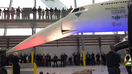 Concorde's iconic nose takes a bow