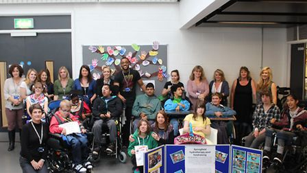 Students and staff from Oaklands College's Springfield provision have raised nearly £4,000 for a hyd
