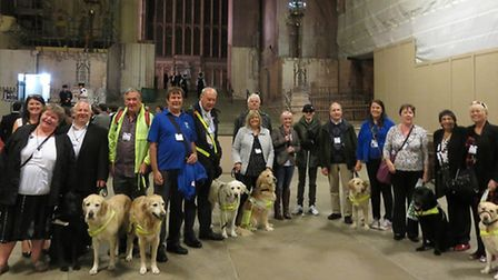 Herts and Beds Guide Dogs have a touch-tour of Parliament