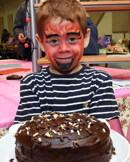 All Saints Church, St Ives, held its annual Bake Off, Charlie Stewart, aged 6, with his 3rd prize ca