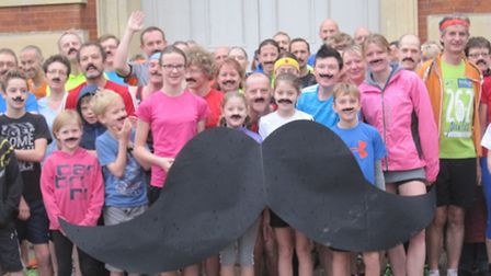 Movember Wimpole runners.