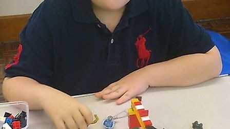 James, 9, has been enjoying the new Lego club set up by his Mum Gayeanna