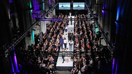The Oaklands College design students and models on the catwalk