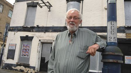 Mr Whitfield outside the pub. Picture: HELEN DRAKE.