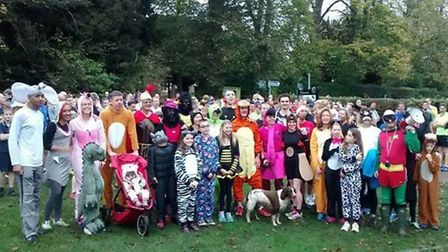 Parkrun runners dress up in St Albans