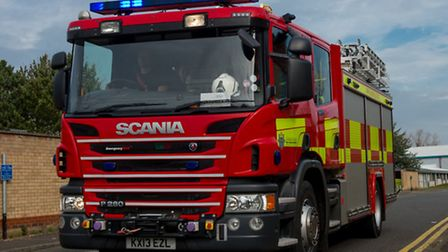 Firefighters attended a house fire.