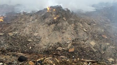 The fire at Bridgefoot Quarry burnt for around a month.