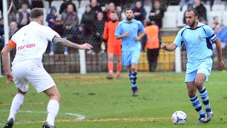 James Comley captained St Albans City for the 44th time on Saturday. Picture: Bob Walkley